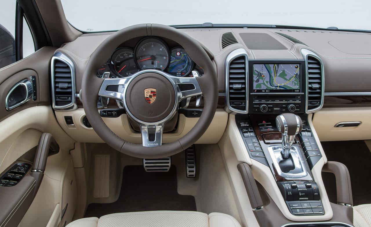 porsche cayenne turbo s dashboard closeup