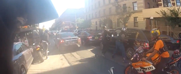 Range Rover Runs Over Hollywood Stuntz Bikers On Motorcycles