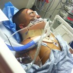 Hollywood Stuntz motorcycle club attacker Jeremiah Mieses at St. Luke's Hospital in New York