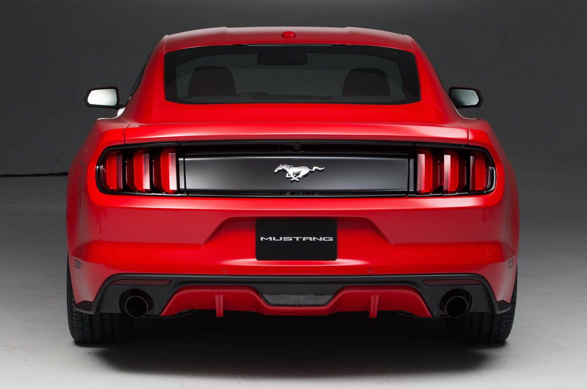 ford mustang top view. 2015 ford mustang rear view top i